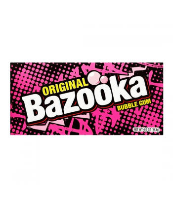 Bazooka Original Bubble Gum Theatre Box 4oz (113g) Bubble Gum Bazooka