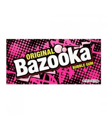 Bazooka Original Bubble Gum Theatre Box 4oz (113g) Bubble Gum Bazooka