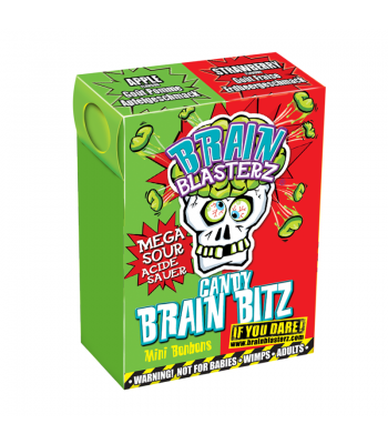 Brain Blasterz - Brain Bitz - Apple & Strawberry Flavour Soft Candy Brain Blasterz