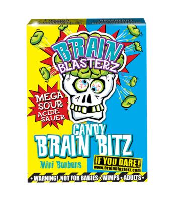 Brain Blasterz - Brain Bitz - Lemon & Raspberry Flavour (45g) Soft Candy Brain Blasterz