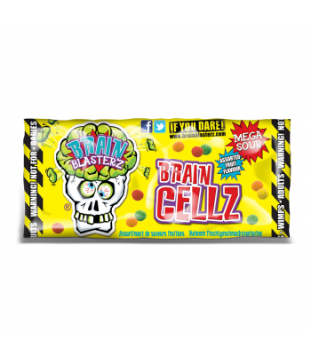 Brain Blasterz - Brain Cellz - Assorted Fruit Flavour (30g) Soft Candy Brain Blasterz