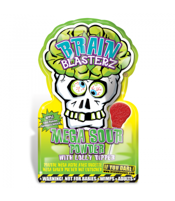 Brain Blasterz - Lollipop and Sour Candy Dip - Apple Flavour - SINGLE PACK Lollipops Brain Blasterz