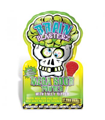 Brain Blasterz - Lollipop and Sour Candy Dip - Apple Flavour - SINGLE PACK Lollipops Brain Blasterz