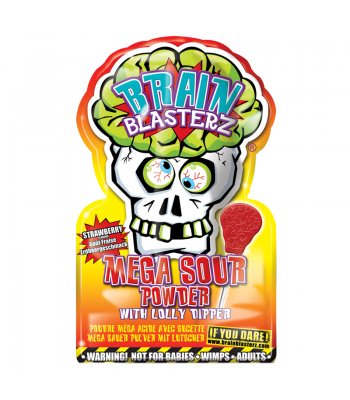 Brain Blasterz - Lollipop and Sour Candy Dip - Strawberry Flavour Lollipops Brain Blasterz
