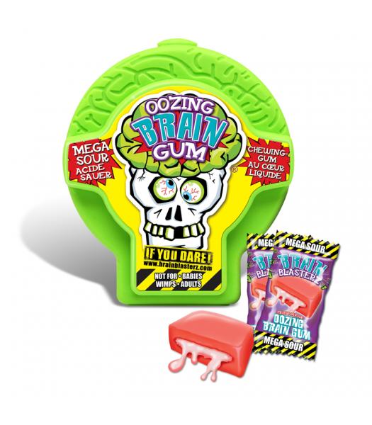 Brain Blasterz - Oozing Brain Gum - Assorted Flavours Bubble Gum Brain Blasterz