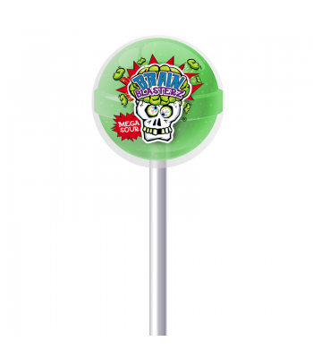 Brain Blasterz - Sour Lollipop - Apple Flavour Lollipops Brain Blasterz