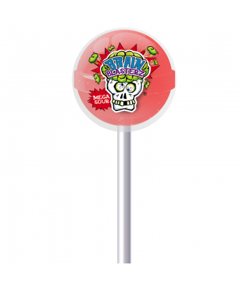 Brain Blasterz - Sour Lollipop - Strawberry Flavour Lollipops Brain Blasterz