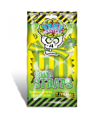 Brain Blasterz - Sour Straps - Apple Flavour - 150g