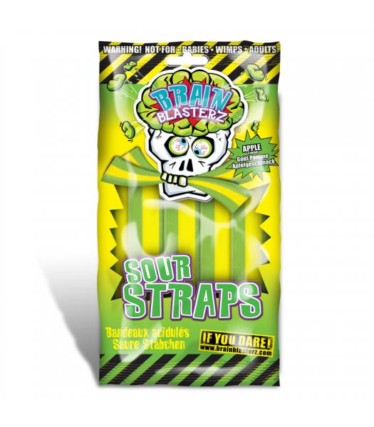 Brain Blasterz - Sour Straps - Apple Flavour - 150g Soft Candy Brain Blasterz