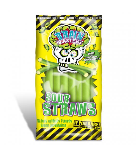 Brain Blasterz - Sour Straws - Apple Flavour 150g