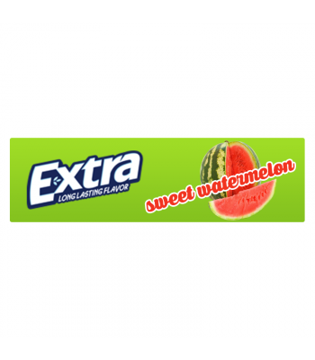 Wrigleys Extra Sweet Watermelon Gum 5 Stick Bubble Gum Wrigley's