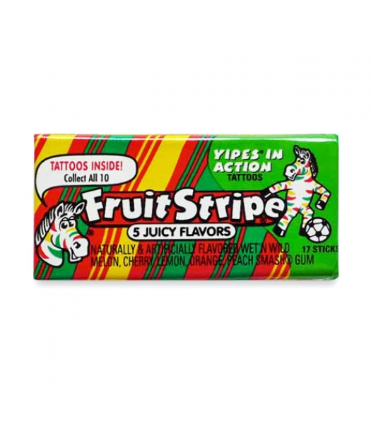 Clearance Special - Fruit Stripe Bubble Gum 17pc 1.8oz (52g) **Best Before: December/Jan 21** Clearance Zone