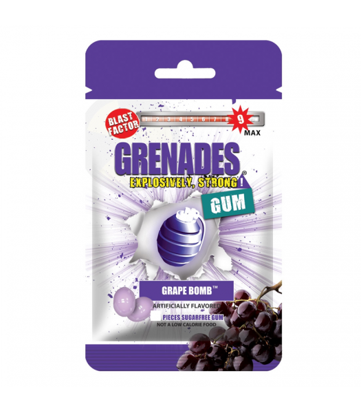 Grenades Gum - Grape Bomb - 5 Piece (10g) Bubble Gum