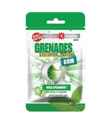 Grenades Gum - Wild Spearmint - 5 Piece (10g) Bubble Gum