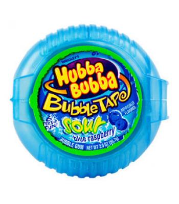 Hubba Bubba Bubble Tape Sour Blue Raspberry Bubble Gum Hubba Bubba