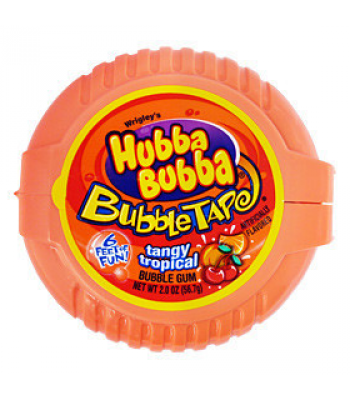 Clearance Special - Hubba Bubba Tangy Tropical Bubble Gum Tape - 2oz (57g) **Best Before: 4 July 19 ** Clearance Zone