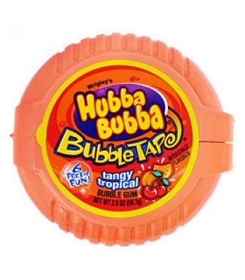 Hubba Bubba Tangy Tropical Bubble Gum Tape Bubble Gum Hubba Bubba