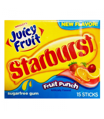 Clearance Special - Juicy Fruit - Starburst Fruit Punch Gum 15 Stick **Best Before: 18 November 2018** Clearance Zone