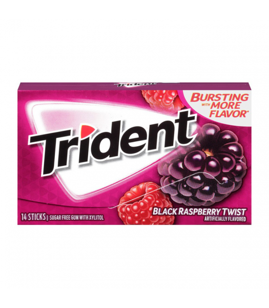 Trident Gum Black Raspberry Twist 14pc Sweets and Candy Trident