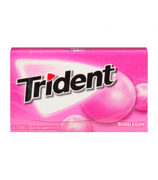 Trident Gum Bubblegum 14pc Sweets and Candy Trident