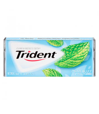 Clearance Special - Trident Mint Bliss 18 Sticks ** Best Before 5th August 2016 ** Clearance Zone