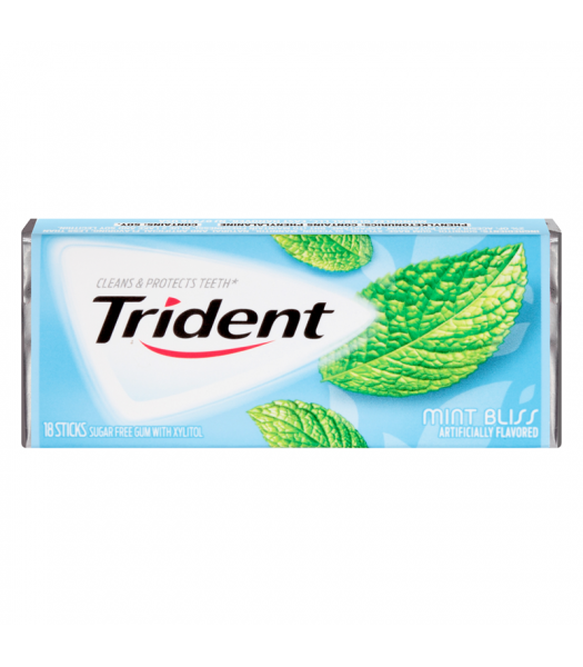 Trident Mint Bliss Flavour Sugar Free Chewing Gum Bubble Gum Trident