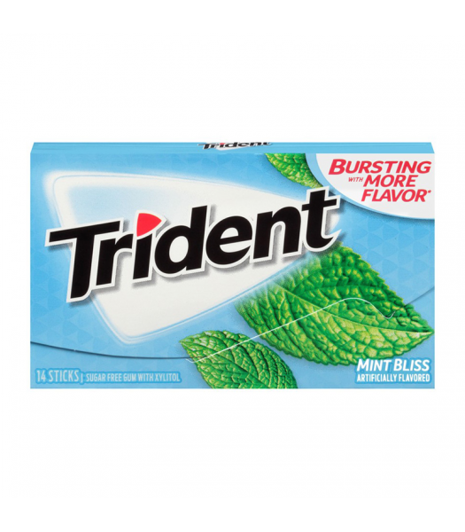 Trident Gum Mint Bliss 14pc Sweets and Candy Trident