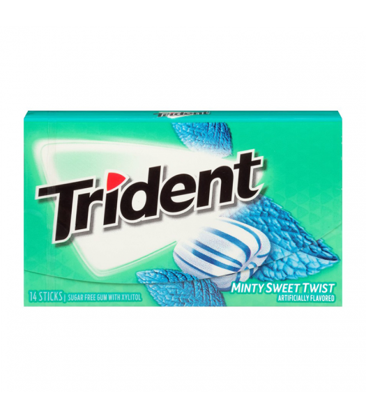 Trident Gum Minty Sweet Twist 14pc Sweets and Candy Trident