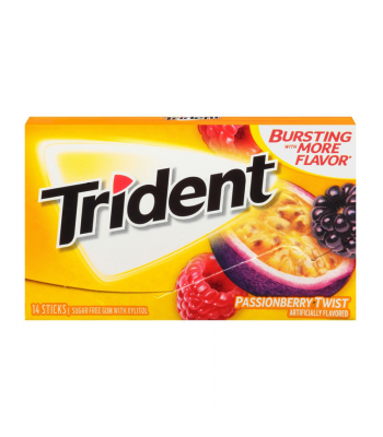Trident Gum Passionberry Twist 14pc Sweets and Candy Trident
