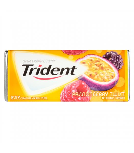 Trident Passion Berry Twist Sugar Free Chewing Gum Bubble Gum Trident