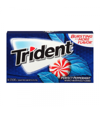 Trident Gum Perfect Peppermint 14pc Sweets and Candy Trident