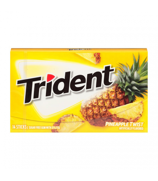 Trident Gum Pineapple Twist 14pc Sweets and Candy Trident