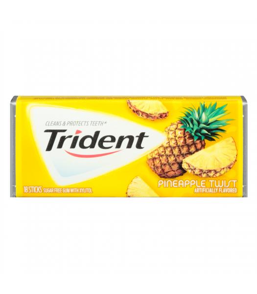 Trident Pineapple Twist Gum Bubble Gum Trident