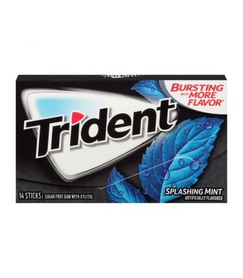 Trident Gum Splashing Mint 14pc Sweets and Candy Trident