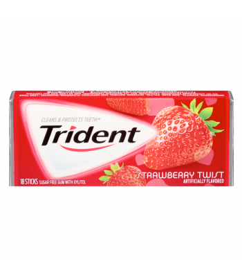 Clearance Special - Trident Strawberry Twist 18 piece ** Best Before 8th October 2016 Clearance Zone