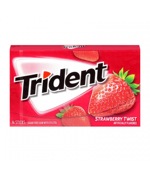 Trident Gum Strawberry Twist 14pc Sweets and Candy Trident