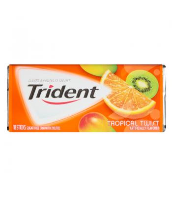 Trident Tropical Twist Flavor Bubble Gum 18 Sticks Bubble Gum Trident