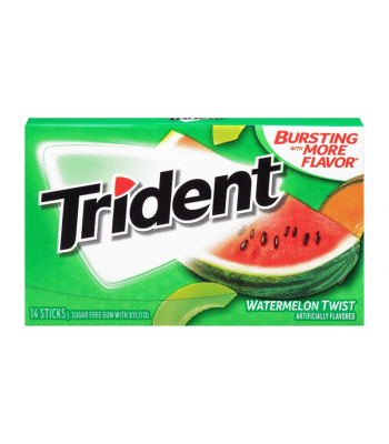 Trident Watermelon Gum 14pc Sweets and Candy Trident