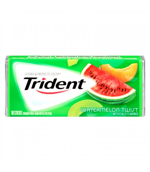 Trident Watermelon Twist Flavor Gum 18 Sticks Bubble Gum Trident