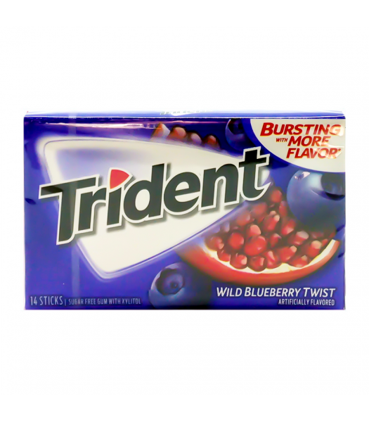 Trident Wild Blueberry Twist Gum 14pc Sweets and Candy Trident