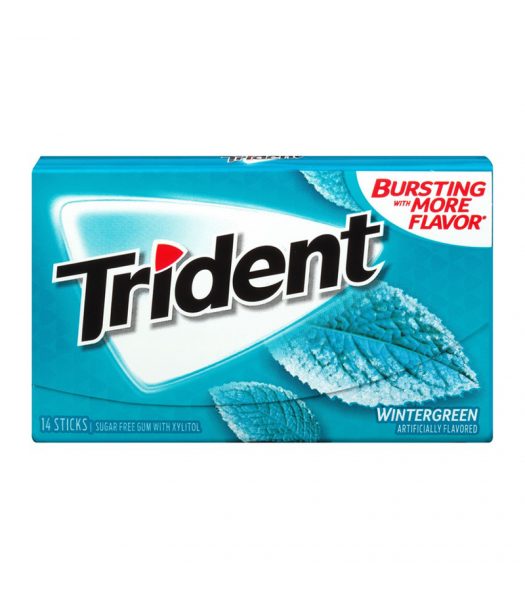 Trident Gum Wintergreen 14pc Sweets and Candy Trident