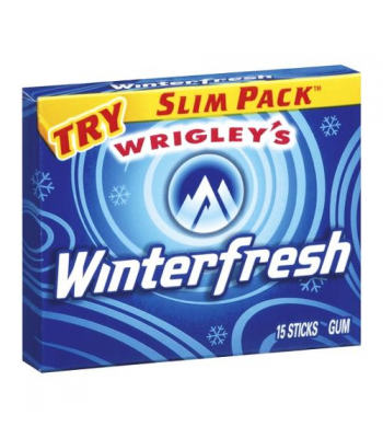 Clearance Special -  Winterfresh Chewing Gum 15-Piece Slim Pack **Best Before: 05 May 21** Clearance Zone