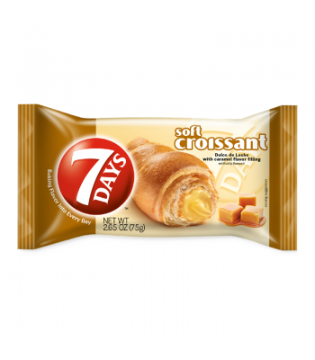 7 Days Soft Croissant Caramel 2.65oz (75g) Cookies and Cakes