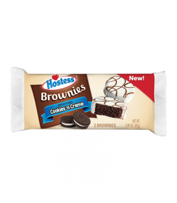 Hostess Cookies 'N Creme Brownie - Twin Pack - 2.89oz (82g) Cookies and Cakes Hostess