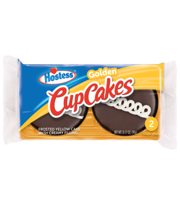 Hostess Golden Cupcakes - Twin Pack - 3.17oz (90g)