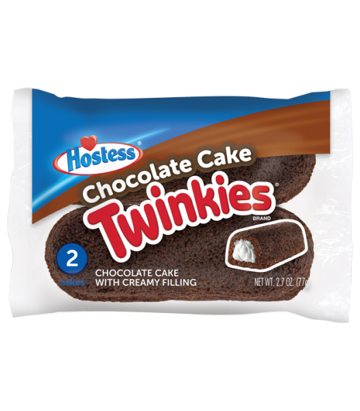 Hostess Chocolate Cake Twinkies - Twin Pack - 2.7oz (77g) Cookies and Cakes Hostess