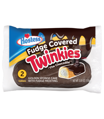"Hostess Fudge Covered ""The Chocodile"" Twinkies - Twin Pack - 3.81oz (108g) Cookies and Cakes Hostess"
