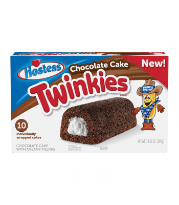 Hostess Chocolate Cake Twinkies - 10 Pack - 13.58oz (385g) Cookies and Cakes Hostess