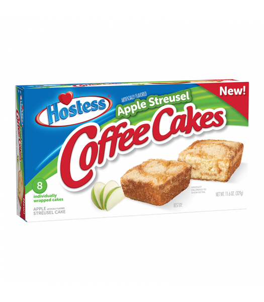 Hostess Apple Streusel Coffee Cake 8-Pack 11.6oz (329g) Cookies and Cakes Hostess