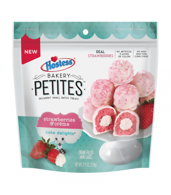 Hostess Bakery Petites Strawberries & Cremè - 7.9oz (224g) Cookies and Cakes Hostess